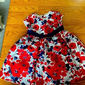 Janie and Jack Blue and red flowered dress